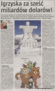 Polish Newspaper Uses Altered Olympic Mascotts Image